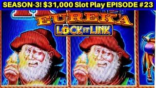 SUPERLOCK Jackpot Lock It Link EUREKA Slot Machine | Season 3 | EPISODE #23