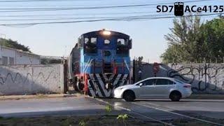 No respetan al Tren!😡🚂 Personas intentando ganar al tren!