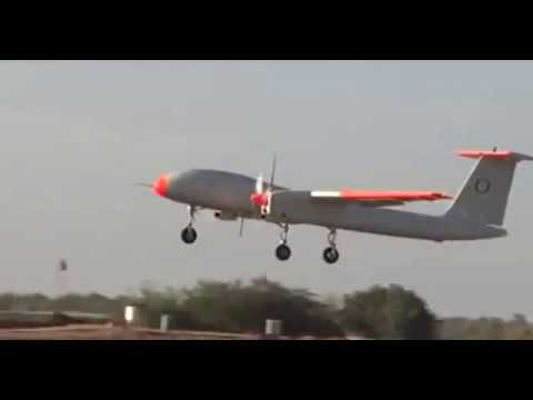 DRDO's Rustom 2 MALE UAV Take Off and Landing