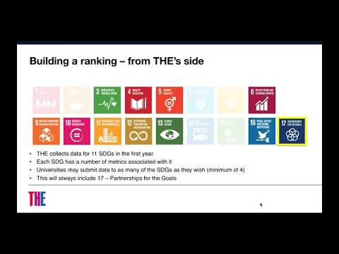 Measuring universities' contribution to the Sustainable Development Goals