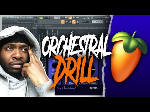 How To Make Orchestral Drill Type Beats FAST | FL Studio 20 Tutorial