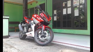 Full tampilan All new cbr  facelift  Racing Red 2018