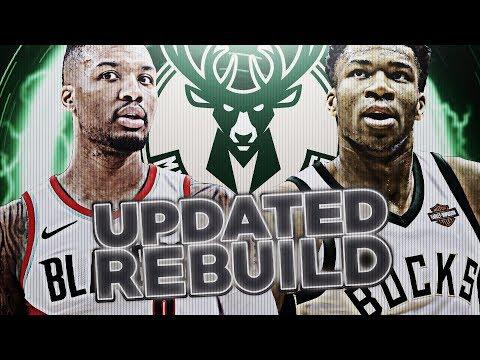 ALL STAR PG TRADE! UPDATED BUCKS REBUILD! NBA 2K18