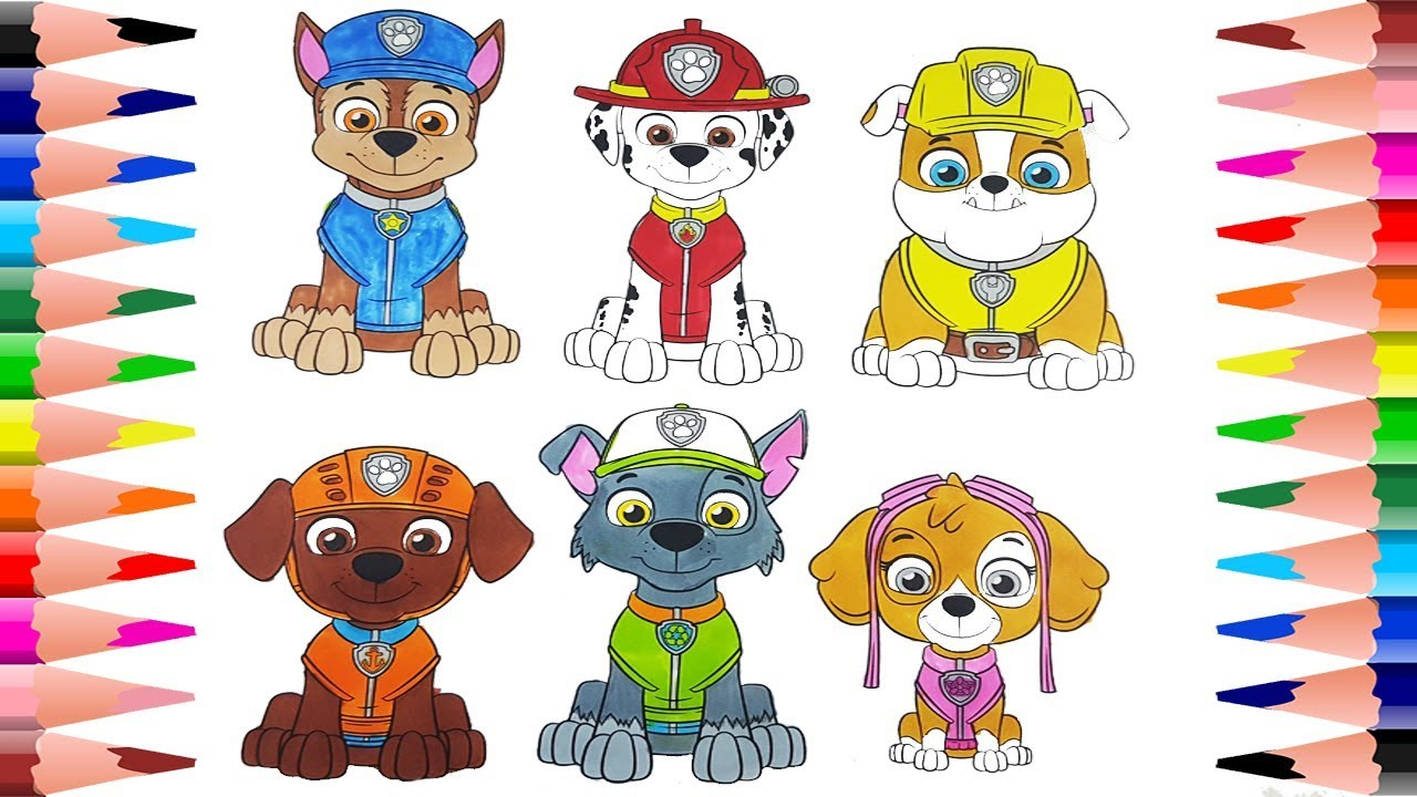 Coloring Paw Patrol Coloring Book for Kids Painting ...
