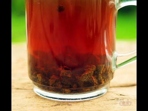 Ферментированный чай из листьев плодово ягодных деревьев и малины