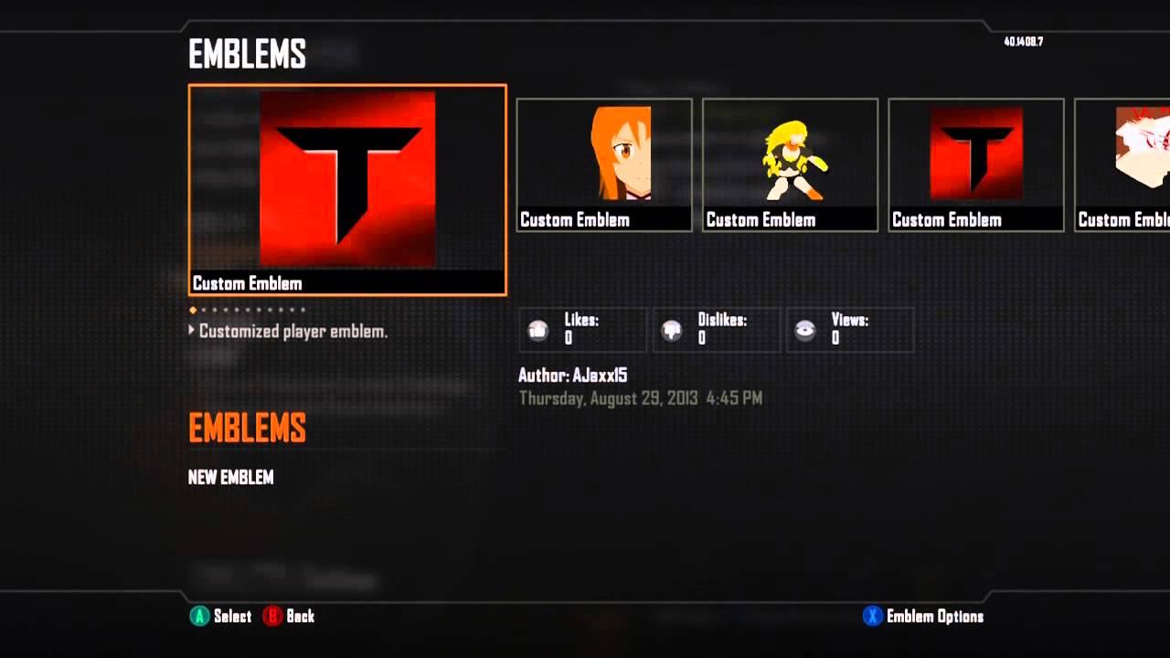 Black Ops 2 Taze Clan Emblem Tutorial Youtube