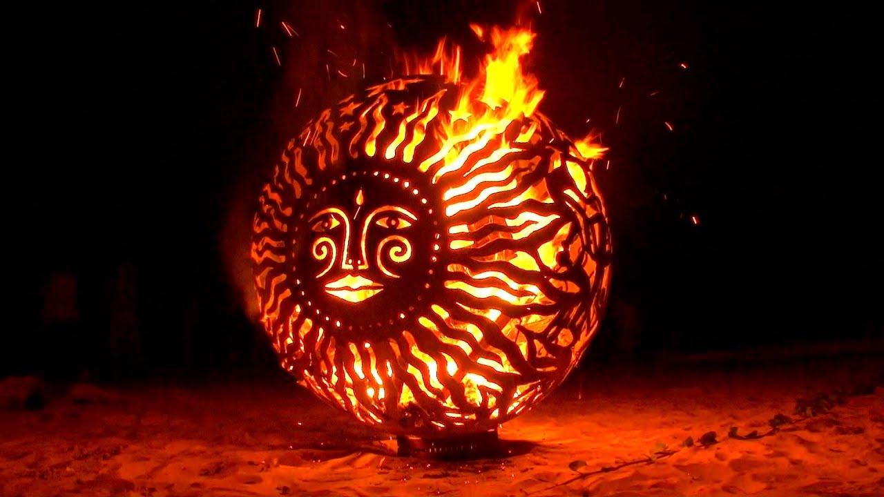 how to make a fire sculpture