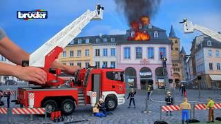 Scania Feuerwehr -- 03590 -- BRUDER Spielwaren