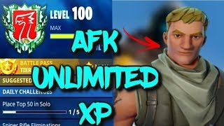 AFK UNLIMITED XP GLITCH IN FORTNITE SEASON 7!!! UNLIMITED XP METHOD!!
