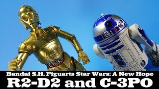 S.H. Figuarts C-3PO and R2-D2 Star Wars: A New Hope Bandai