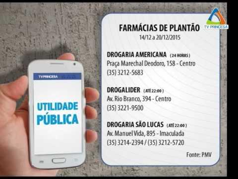 (JC 14/12/15) Farmácias De Plantão