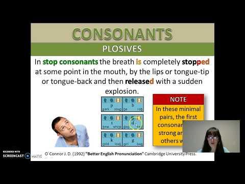 ENGLISH CONSONANTS: Bilabial Plosives