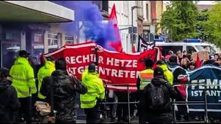 Eierwürfe + Pyrotechnik in Landau! - Polizei kapituliert!