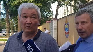 Кубанычбек Кулматов после допроса в ГКНБ. 5 июня