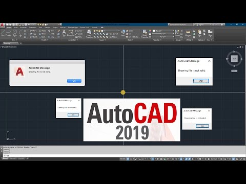 AUTOCAD ERROR | Drawing File Is Not Valid | Autocad 2019