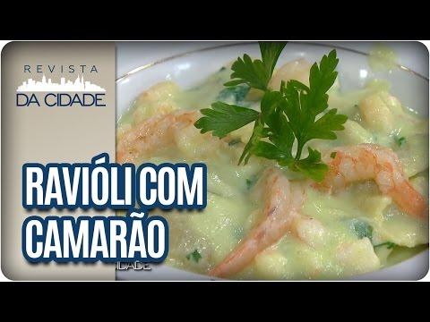 Receita de Ravióli com Camarão - Revista da Cidade (11/01/17)