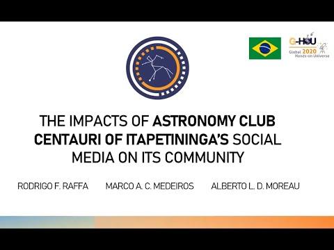 R. F. Raffa - The impacts of Astronomy Club Centauri of Itapetininga's social media on its community