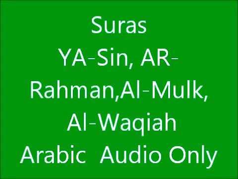 surat yasin , ar rohman , al waqiah , al mulk