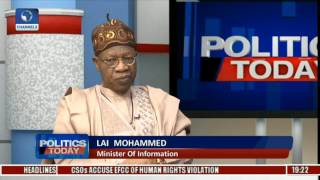 El-Zakzaky Is In A House With His Family - Lai Mohammed