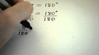 Basic Introduction into degrees and radians and converting between them