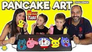 PANCAKE ART CHALLENGE con MIKELTUBE !!! Pancakes RETO!!!Con dibujos animados!!