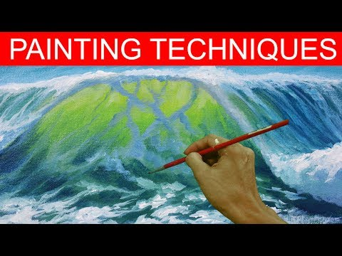 Painting Techniques | How to Paint Crashing Waves in Acrylic by JM Lisondra