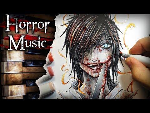 Jeff The Killer Creepypasta Drawing + Horror Music