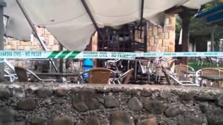 Incendio en el camping de Quintanar