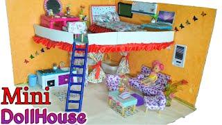 DIY Miniature DollHouse|How To Make Miniature DollHouse|LivingRoom, Kitchen,BedRoom, BathRoom|E.O.C