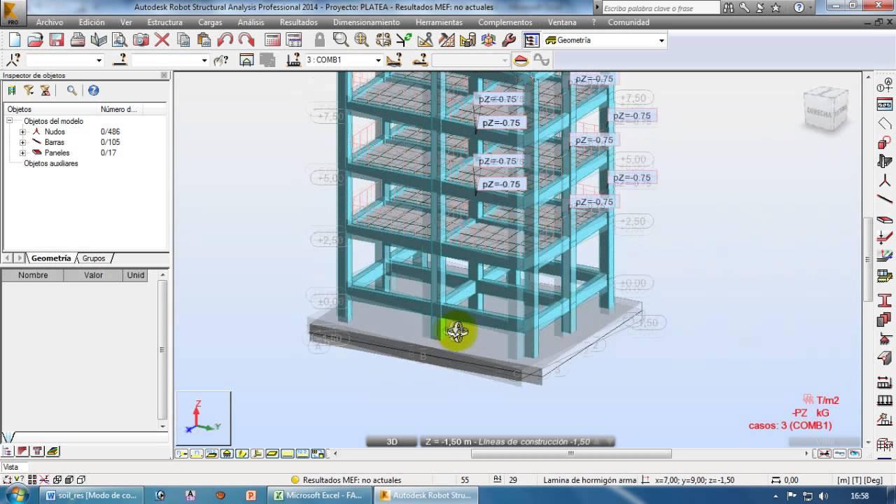 Robot Structural 2014 Castellano Tutorial 7 Losa De Cimentacion