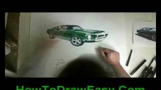 Drawing Cars, Mustang 1968 Shelby GT 350, Music, Reverbnation The Masterbakers