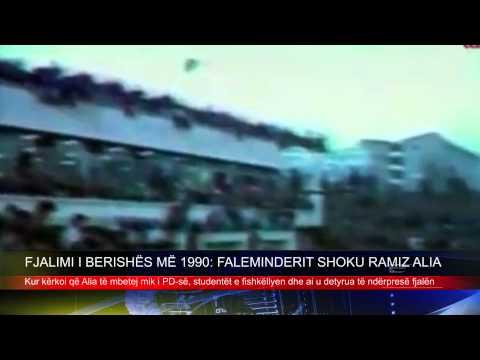 FJALIMI I BERISHËS MË 1990: FALEMINDERIT SHOKU RAMIZ ALIA. TEMATV. 8 DHJETOR 2014