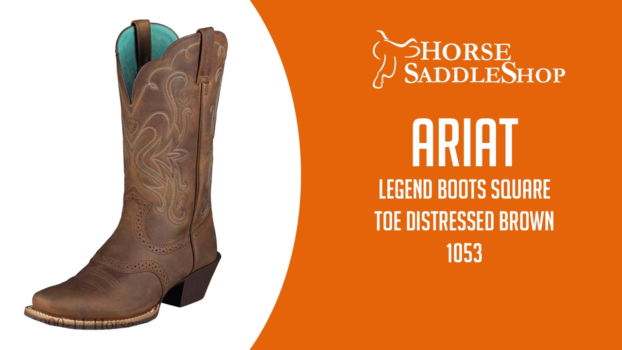Ariat Women's Legend Boots Square Toe Distressed Brown 10001053 ...