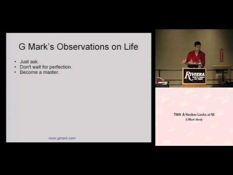 DEF CON 16 - G. Mark Hardy: A Hacker Looks at 50