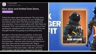 No more exclusive SKINS - Season 2 and 3 BAILES AND SKINS will return to FORTNITE