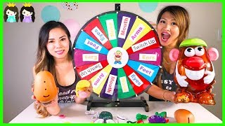 Mystery Wheel of Mr Potato Head Toy Hunt Switch Up Challenge Video