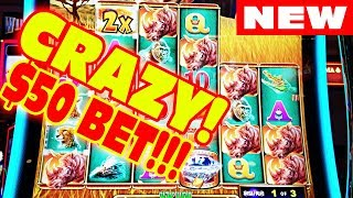 GOING CRAZY BETTING $50 DOLLARS A SPIN ON A SLOT MACHINE!!!