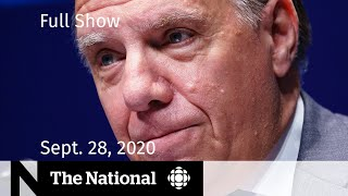 CBC News: The National | Parts of Quebec back into lockdown amid COVID-19 surge | Sept. 28, 2020