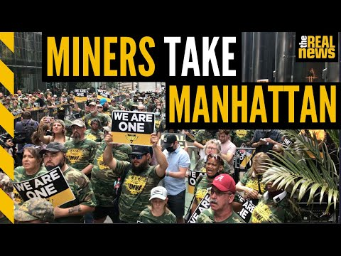 Striking Alabama coal miners protest corporate greed at NYC BlackRock headquarters
