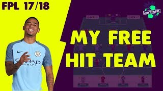 My free hit team | gameweek 35 preview | fantasy premier league 2017/18
