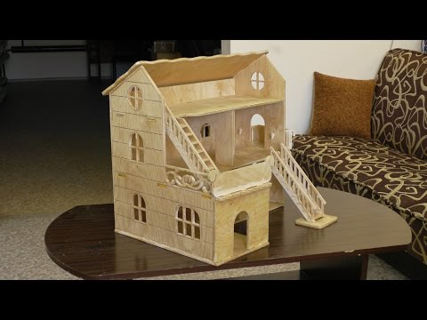 Изготовление кукольного домика из фанеры на станке с ЧПУ