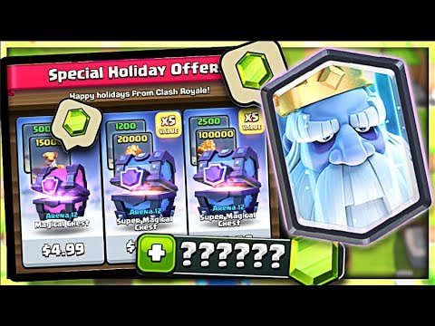 GEM THE Royal GHOST!? What is INSIDE!?  (Molt Clash Royale)