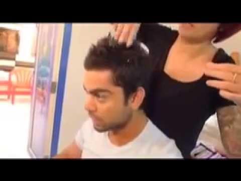 Virat Kohlis New Hair Style Before The World Cup Youtube