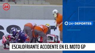 El escalofriante accidente que se registró en el Moto GP de Valencia