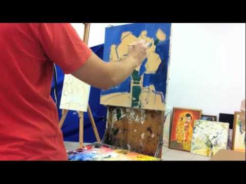 Видео урок живописи маслом: мастер-класс Астры