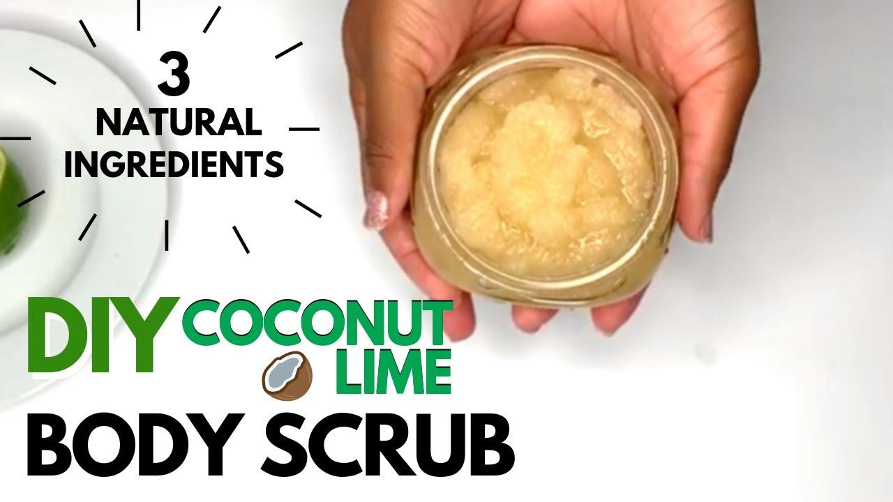 How To Make Exfoliating Body Scrub Diy Youtube