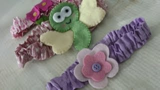 Video aula faixa (tiara ) para bebes por Carmela Caramella