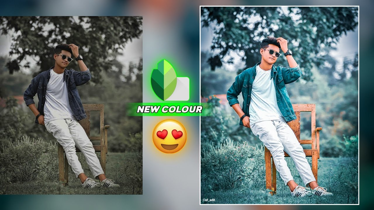 Snapseed Amazing New Colour Trick 🤟🏻 / Snapseed Background Colour Change - AF EDIT