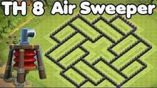 Clash Of Clans - TownHall 8 Maze Base / Best Throphy Base Ever And Anti Air For TH8 / 2016 - 2017
