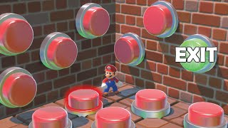 100 Mystery Buttons But Only One Lets MARIO Escape (Preston/ Dangie Bros 100 Mystery Buttons parody)